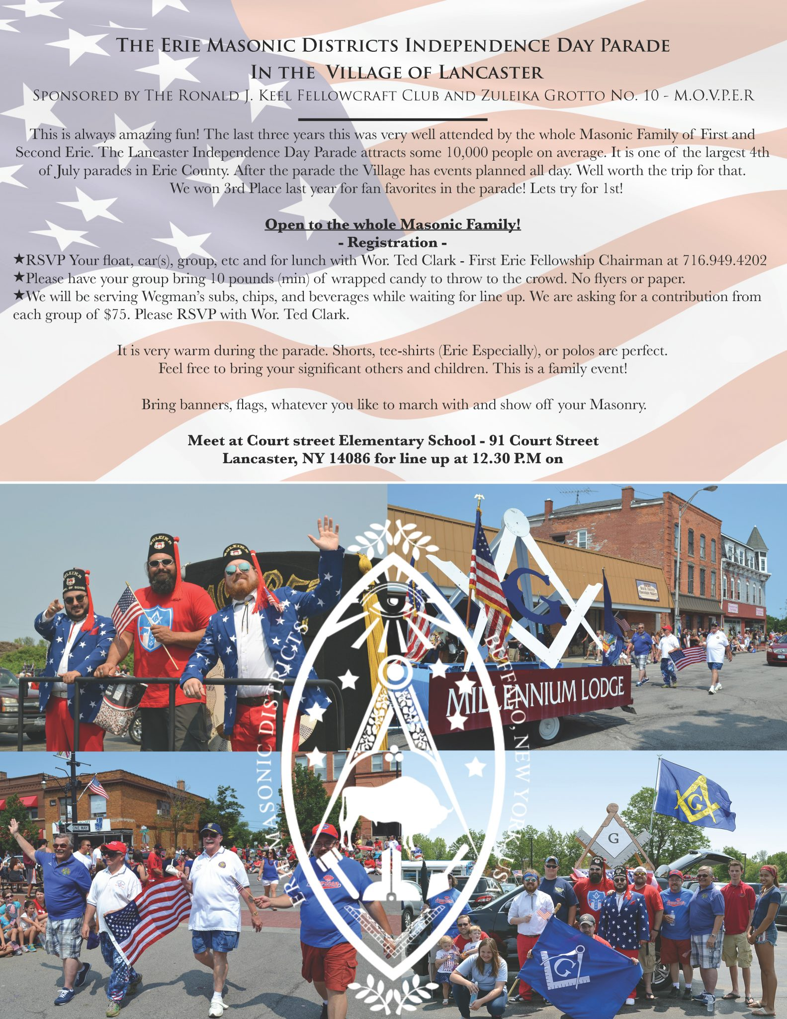 Natale Masonry The 2017 Erie Masonic Districts Independence Day Parade In The