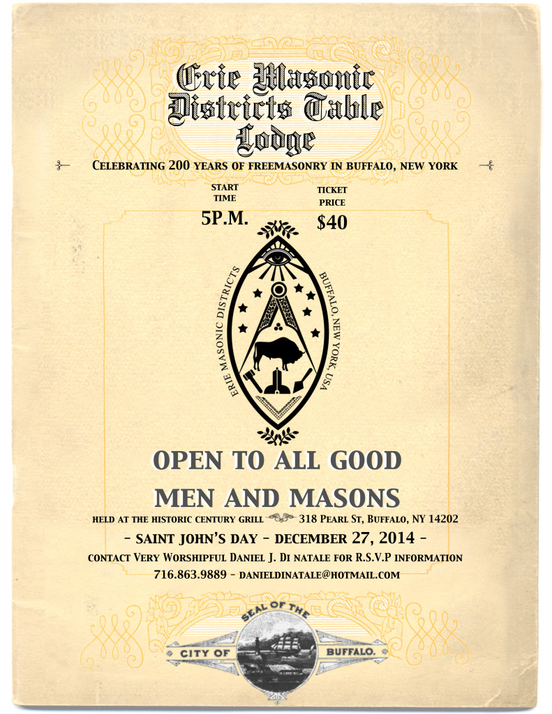 Natale Masonry Erie Districts Table Lodge 200 Years Of Freemasonry Erie