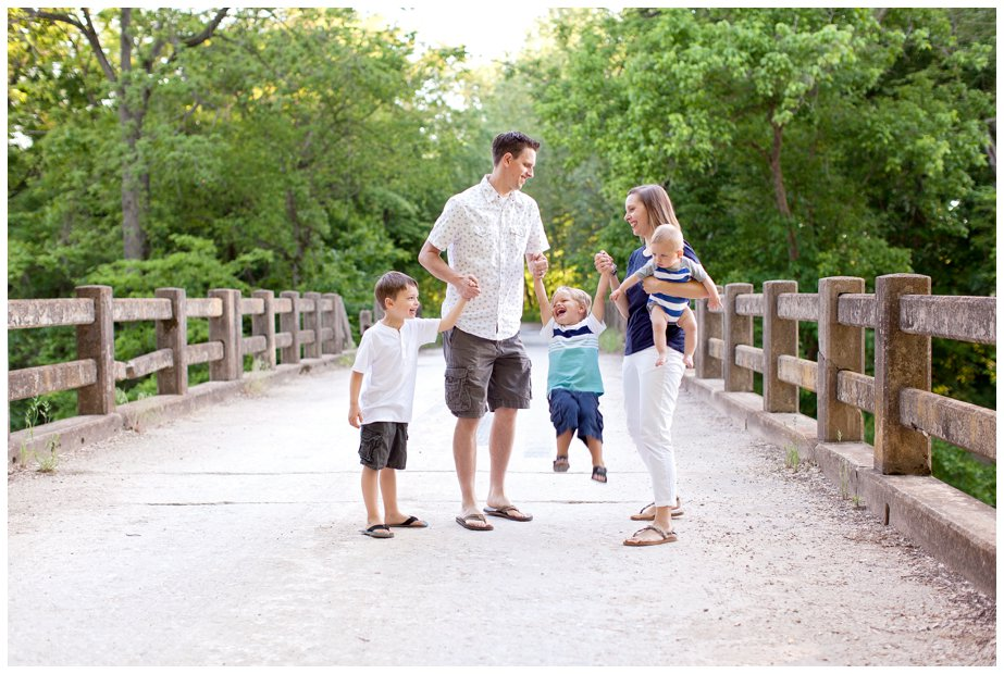Summer Family Portraits on an old bridge