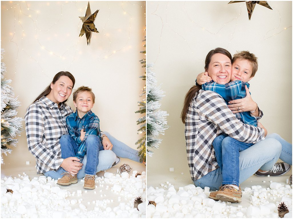 snowy indoor mini session