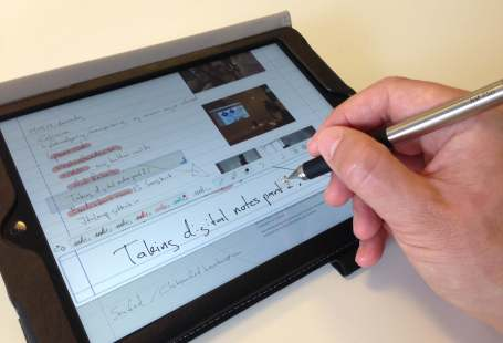 Adonit Jot Flip with Notes Plus iPad app