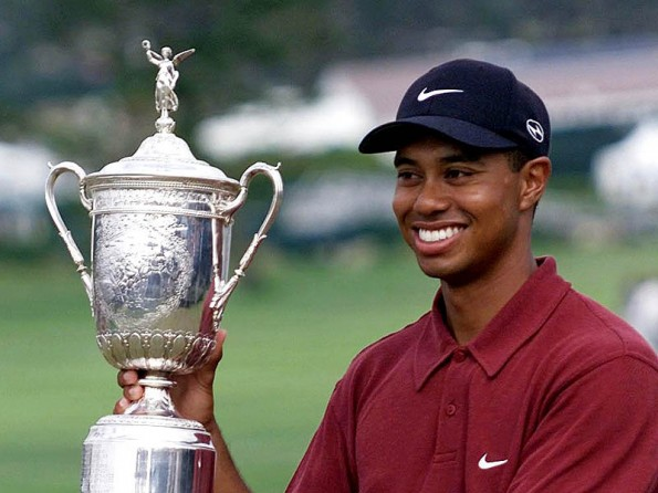 tiger woods age first masters