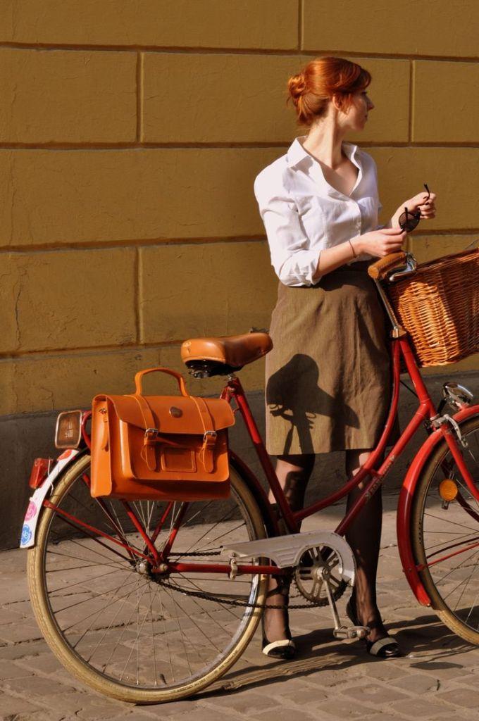 Bike belle leather satchel