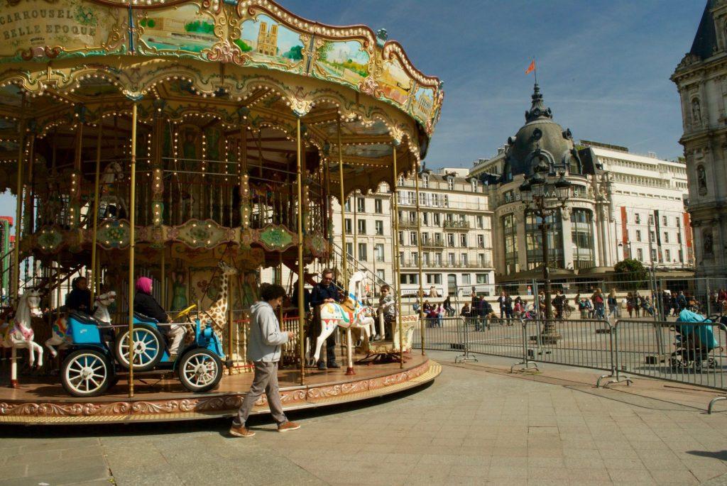 paris with kids - hotel de ville carousel