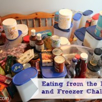 Eating from the Pantry and Freezer Challenge