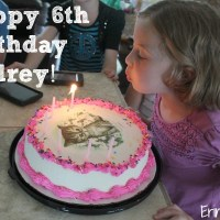 Happy 6th Birthday Audrey!