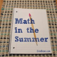 Math in the Summer!