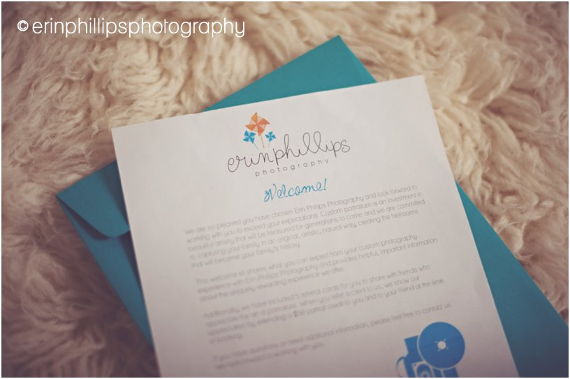 Welcome packet loveliness {Erin Phillips Photography, Slidell LA