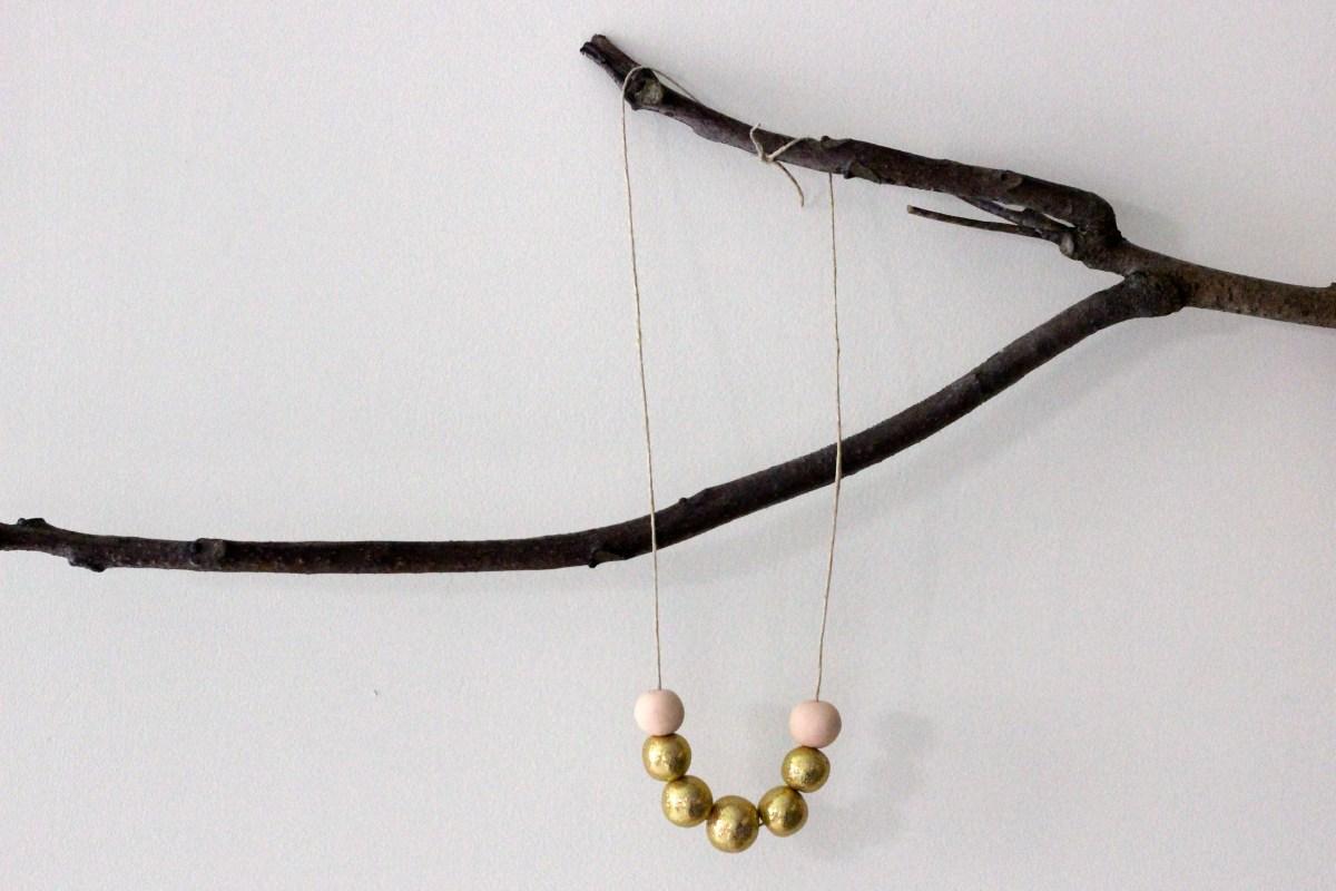 DIY: Clay Glitter Bead Necklace