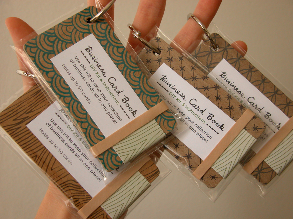 Erinzam News » Blog Archive » New DIY Kit \u2013 Business Card Book