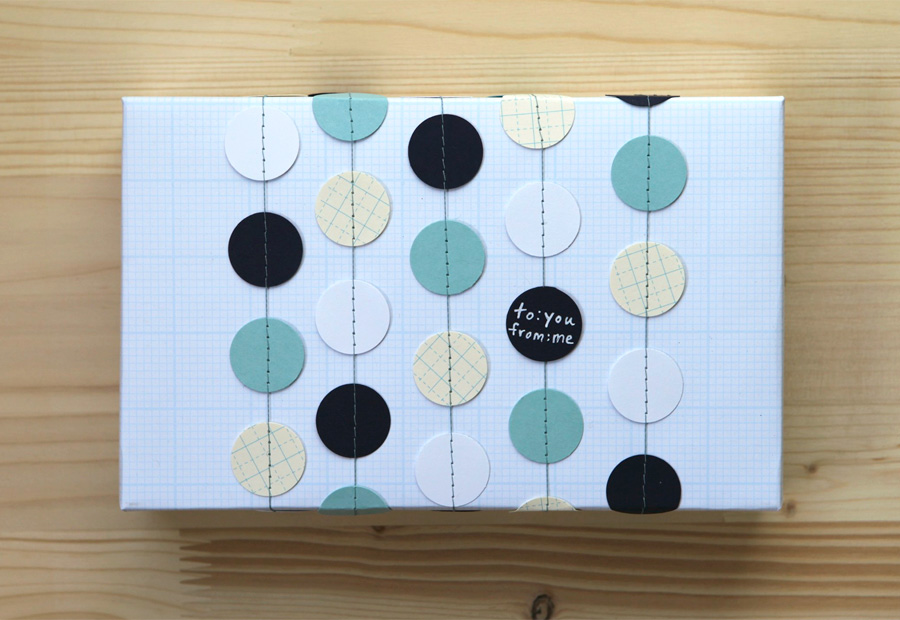 Lots of gift wrap ideas and tutorials Might make for a fun - graph paper