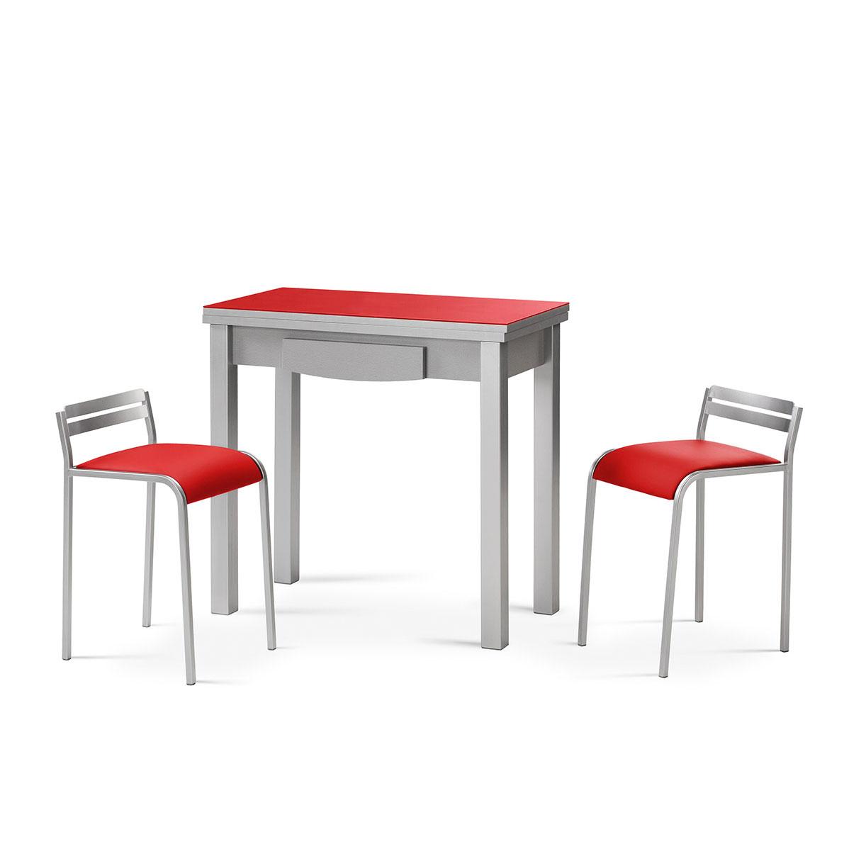 Mesa De Cocina Roja | Cocinas Blancas O Cocinas Con Color Ventajas E ...
