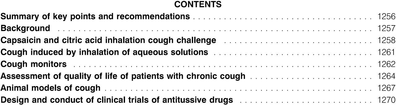 ERS guidelines on the assessment of cough European Respiratory Society