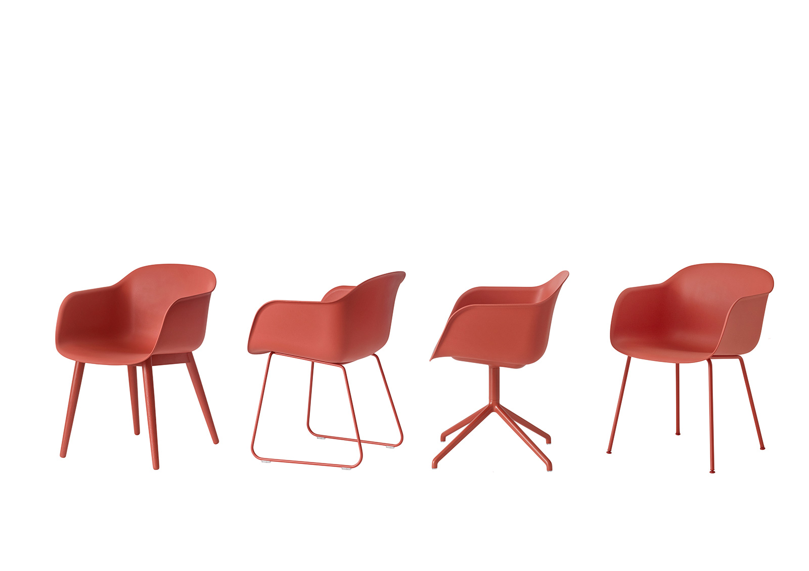 Muuto Sessel Sessel Fiber Wood Base Dusty Red M Polster Remix 643 Von