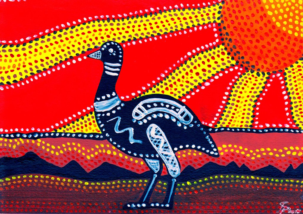 Dreamtime Story of the Emu