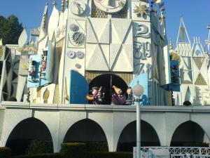 Clock tower at Small World