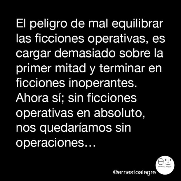 ficciones operativas, por Ernesto Alegre