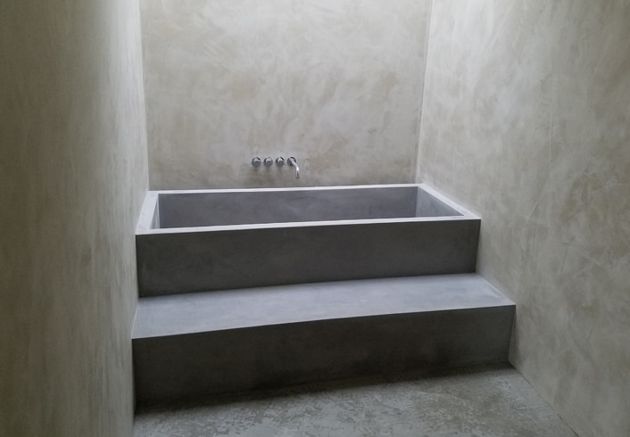 Tile Tub Shower Tub And Shower - Ernsdorf Design | Concrete Fire Pit Bowls