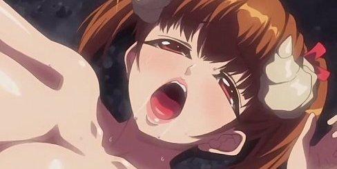 淫乱の美少女サキュバスと種付け野外セックスのエロアニメ画像