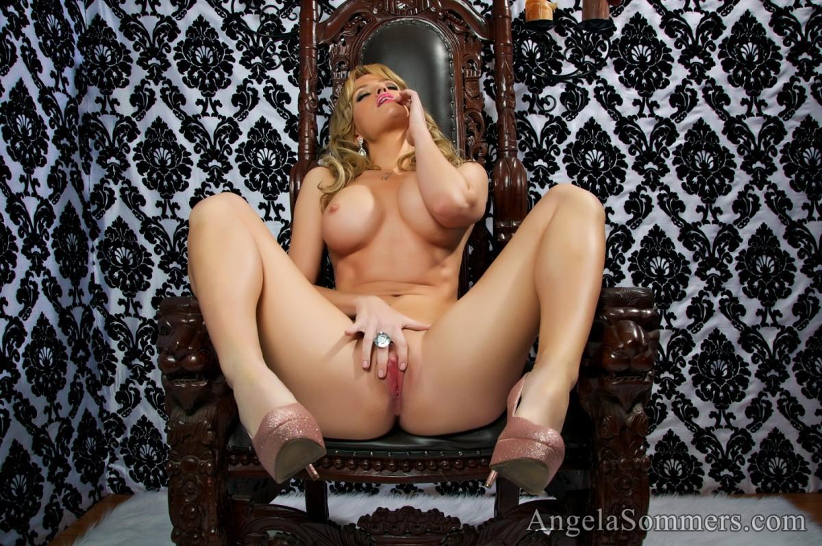 Angela Sommers Skimpy Pink Lingerie
