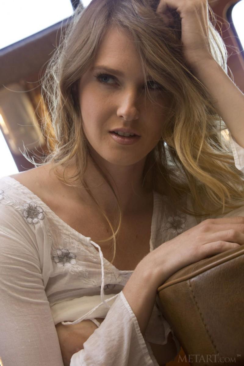 Ashley Lane Posing in a Camper Van