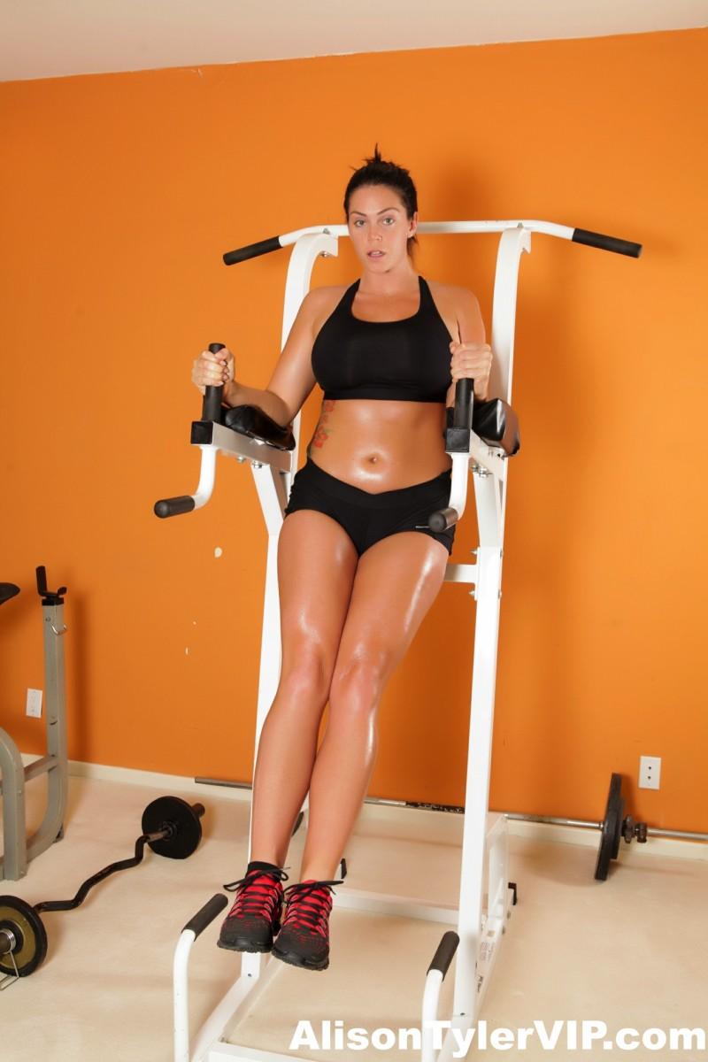 Alison Tyler Busty Curvy Gym Babe