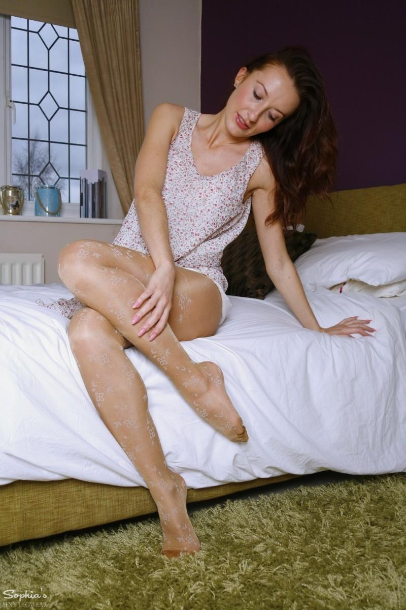Sophia Smith Strips in her Bedroom