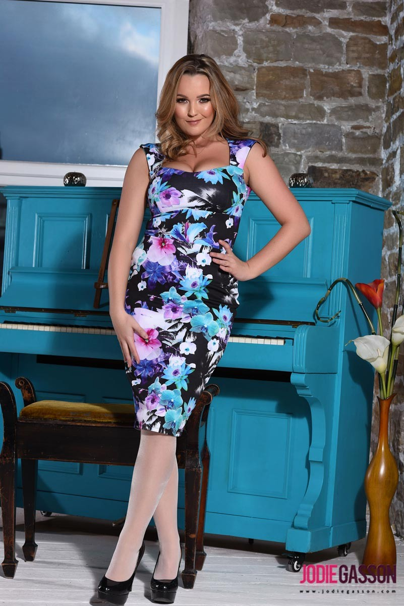 Jodie Gasson Topless by the Piano