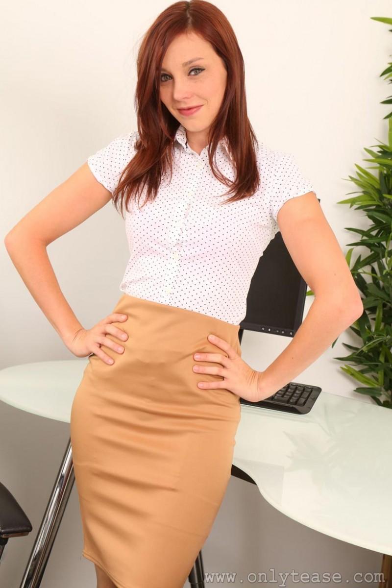 Jo E Strips by her Desk
