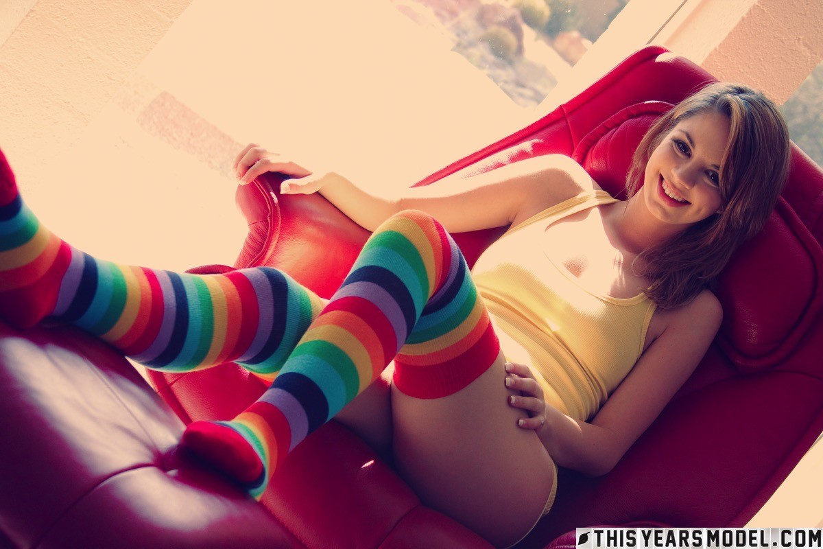 Aspen Martin in Funky Stockings