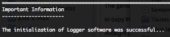 ArcSight Logger successful initialization
