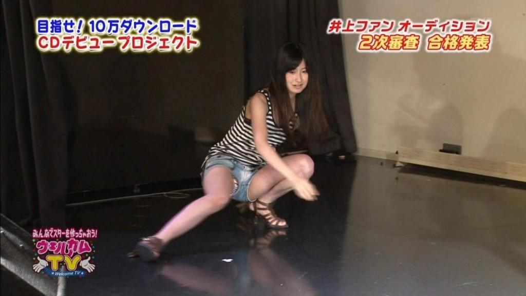 ショーパンだからと隙ありしたアイドルの股間から見えちゃイケないものが見えてる放送事故写真wwww