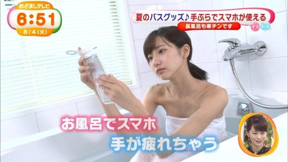 武田玲奈のBUSタオル一枚の入浴シーン見てたらヤリたすぎるwwwwwwwwww(えろキャプ写真あり)