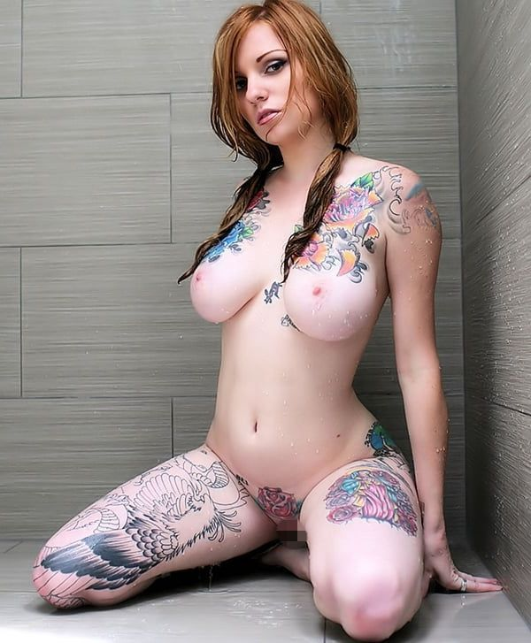タトゥーたっぷりの白人モデル←JAPAN男児の大半はタトゥー入れないほうが良いと思うはずwwwwwwwwww(写真あり)