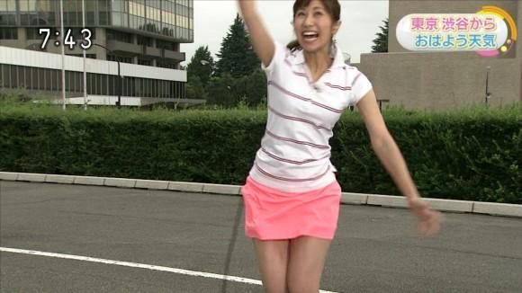 テニスコスでパンツ丸見えか☆?NHK酒井アナがぐうしこお天気予報wwwwwwwwwwww(えろキャプ写真あり)