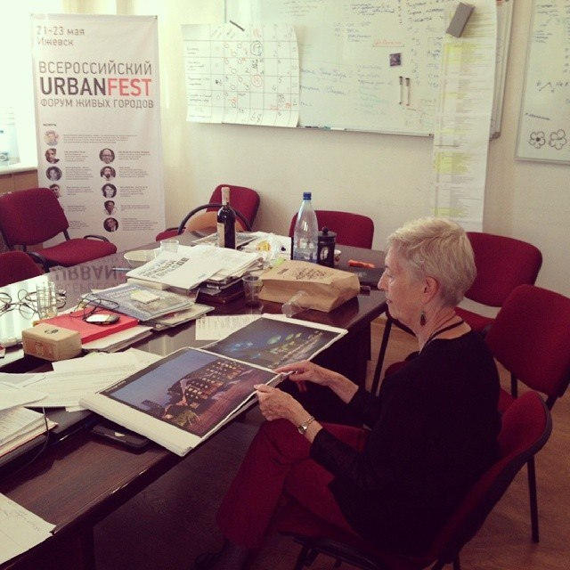 Marilyn Hamilton at Urbanfest in the Russian city of Izhevsk