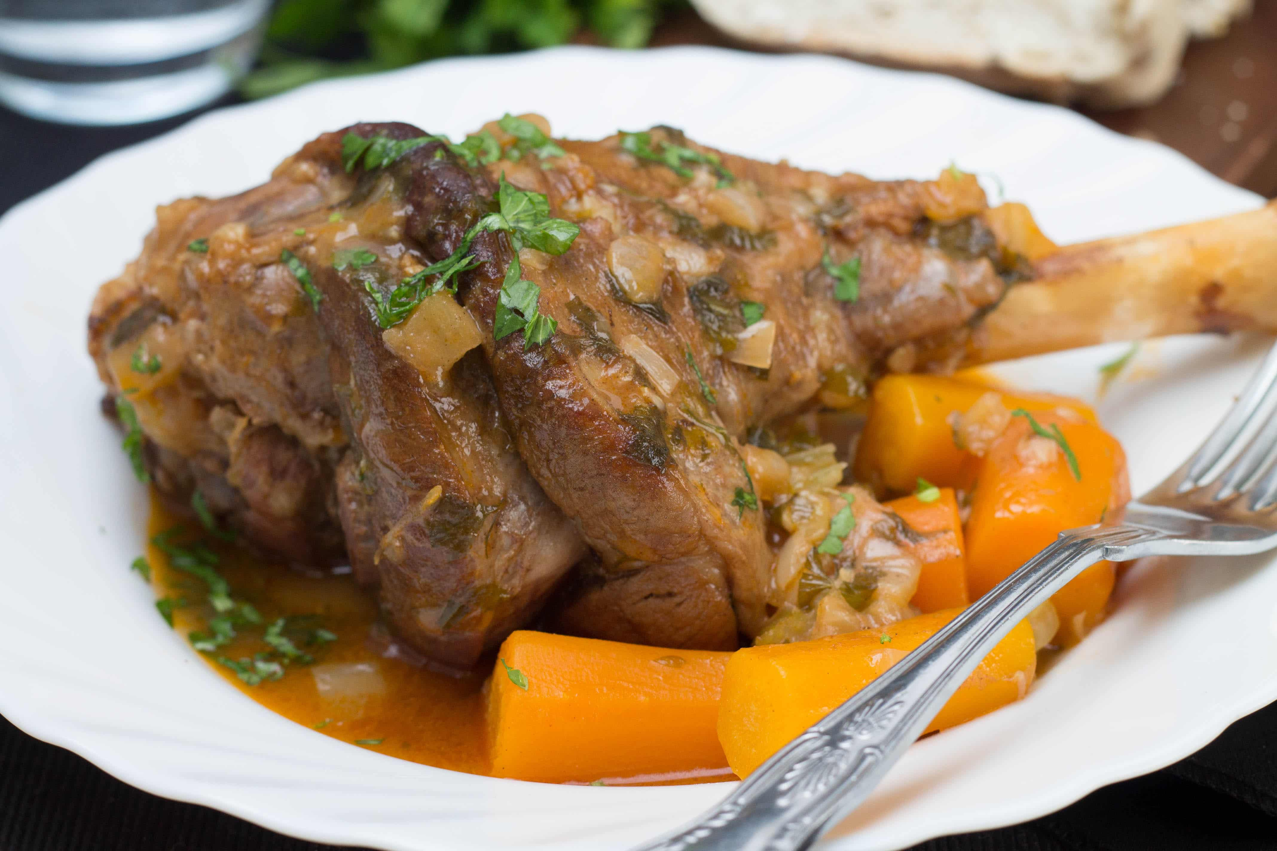 Lamb Meat Cooked Slow Cooked Lamb Shanks This Recipe Is Comfort Food At It