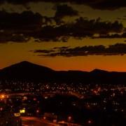 Etter solnedgang over Windhoek. Foto ©2014 Geir Ertzgaard