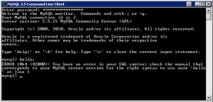 MySQL - Hello