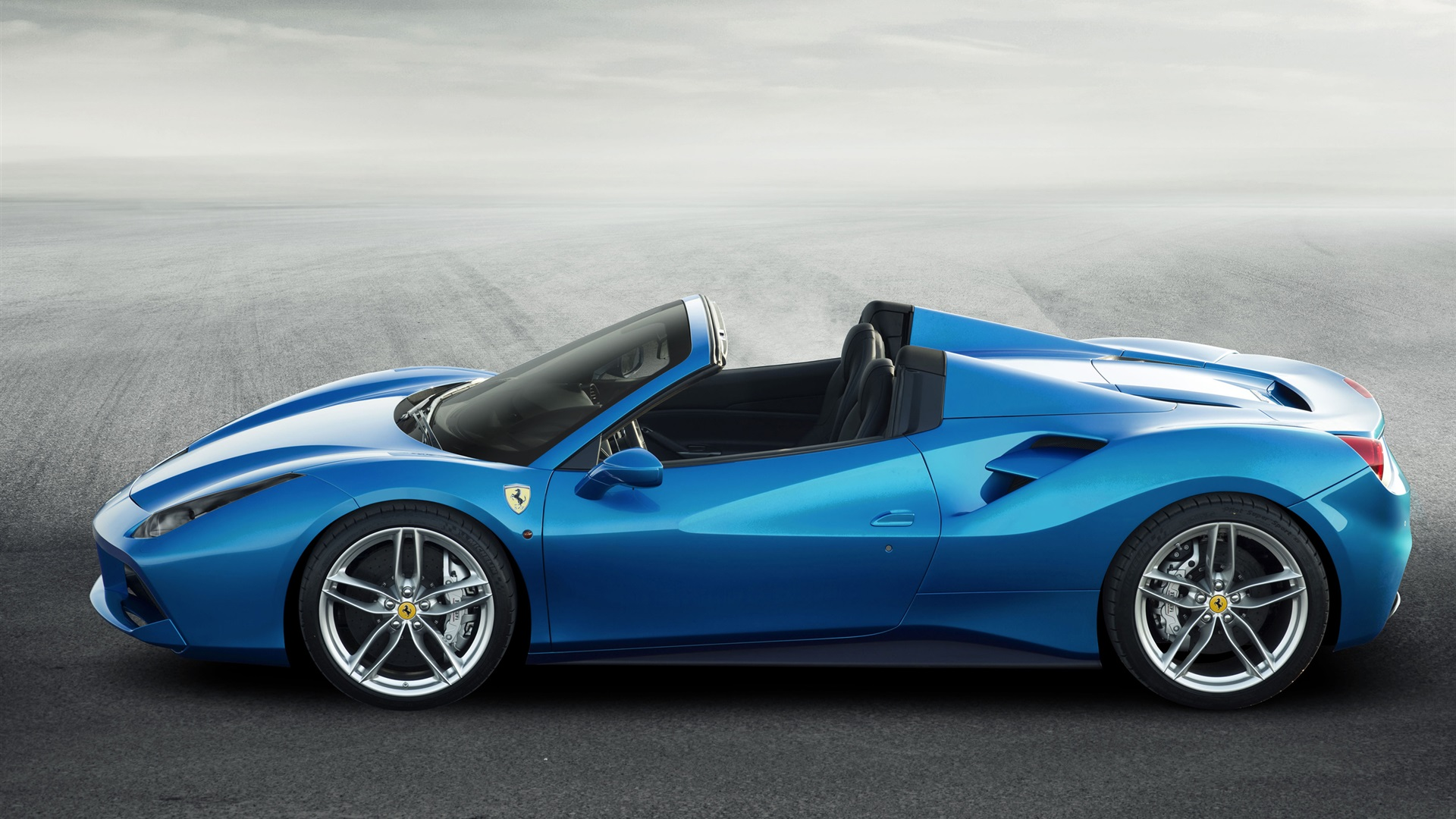Supar Car Hd Wallpaper Ferrari 488 Ara 241 A Azul Superdeportivo Vista Lateral Fondos