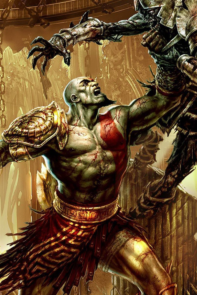 Iphone 4s Anime Wallpaper God Of War 3 Juego Para Pc Iphone X 8 7 6 5 4 3gs Fondos