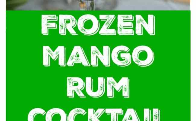 Frozen Mango Rum Cocktail With Mint Analida S Ethnic Spoon