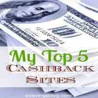 My Top 5 Cashback Sites