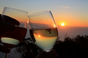 Cheers to that sunset and that reflection