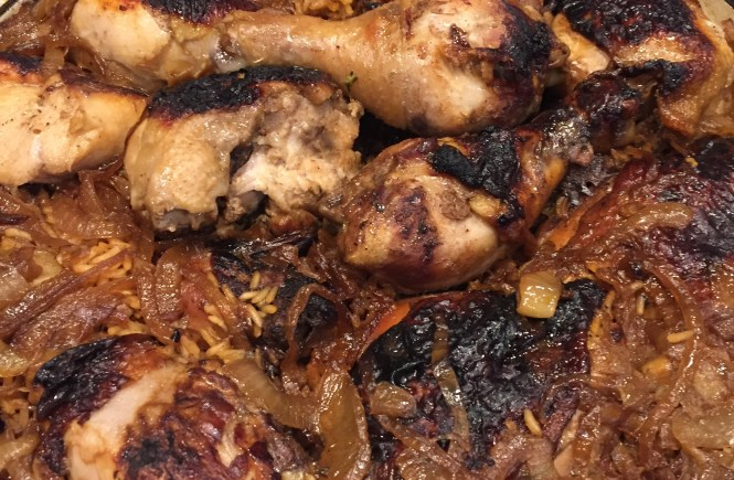 Chicken ready for dinner!  Love a recipe that includes rice for a one-pot wonder