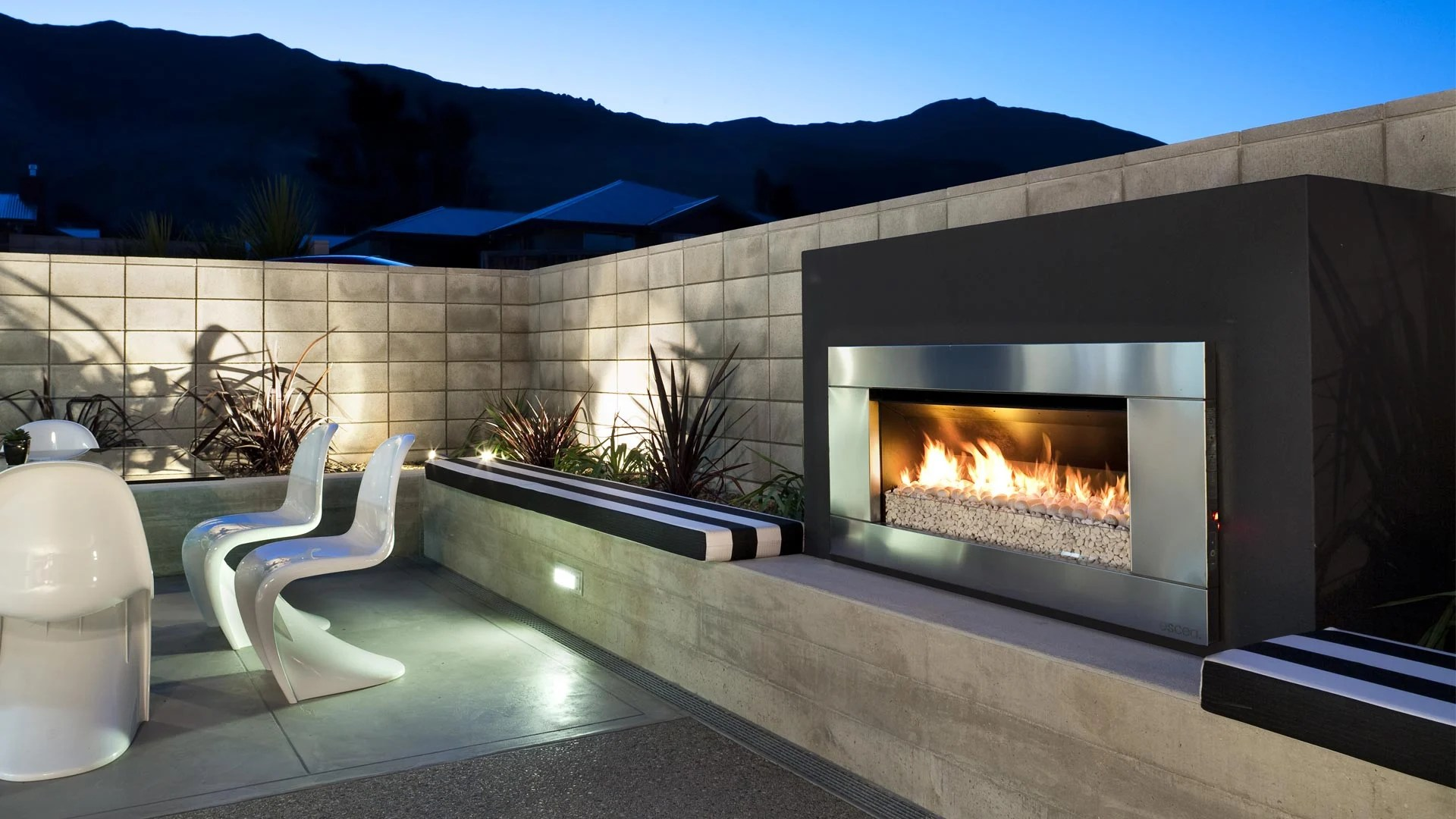 Outdoor Gas Fireplaces Escea Ef5000 Outdoor Gas Fireplace Escea Outdoor Fires