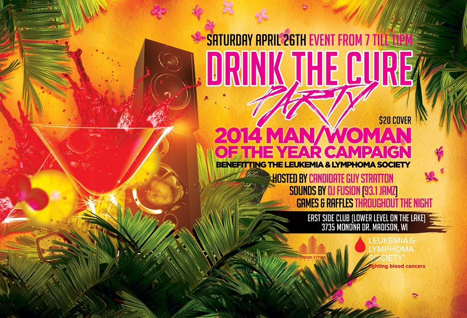 Drink the Cure Party flier \u203a East Side Club of Madison \u2039
