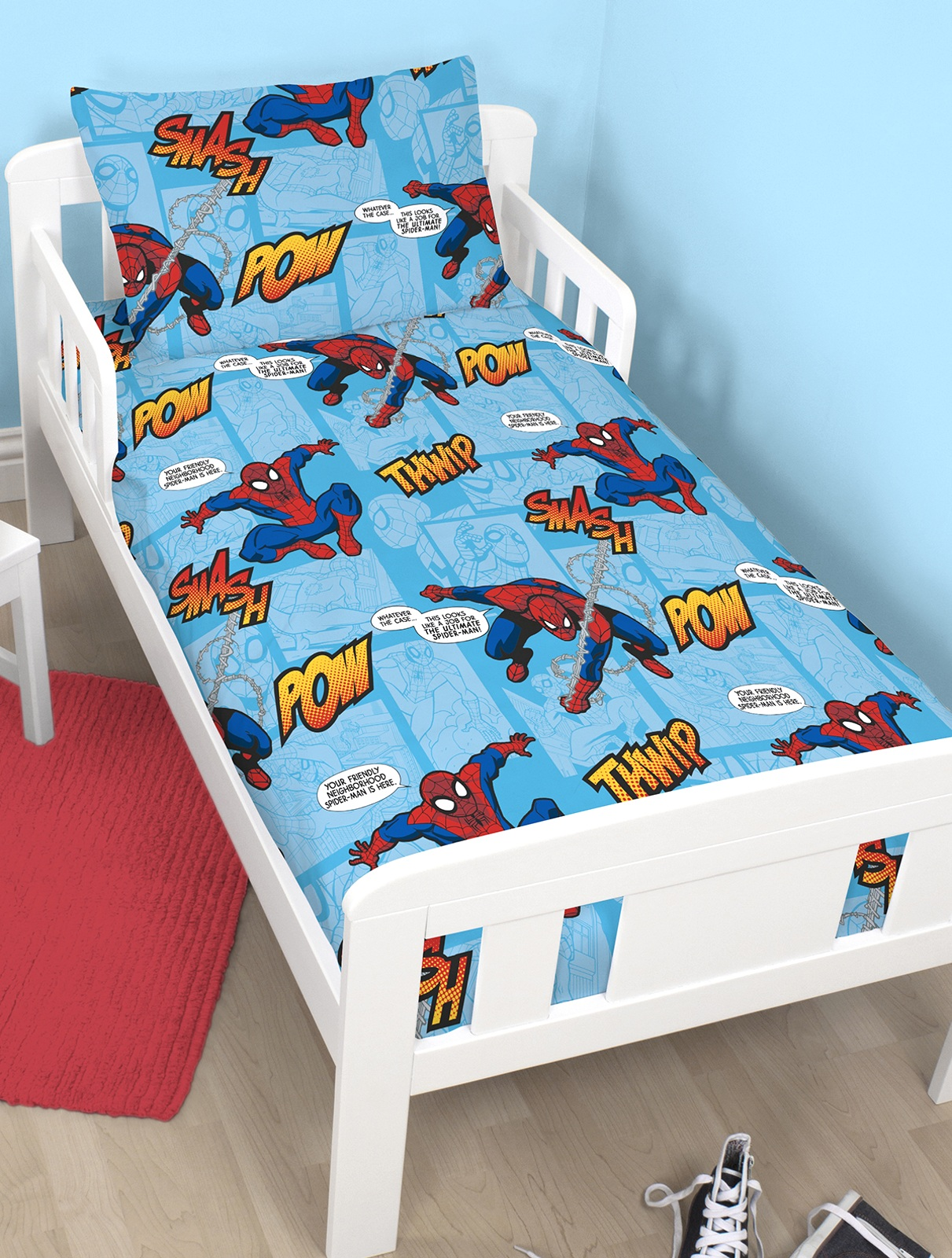 Bettwäsche Spongebob Spiderman Thwip 4 In 1 Kinderbett Garnitur BettwÄsche