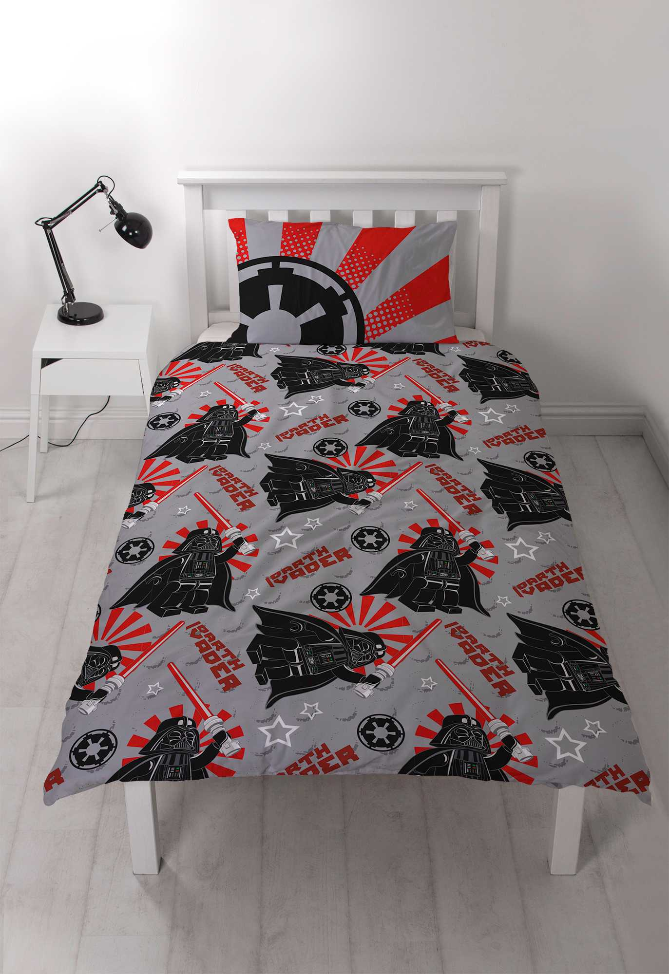 Stormtrooper Bed Sheets New Lego Star Wars Darth Vader Single Duvet Quilt Cover