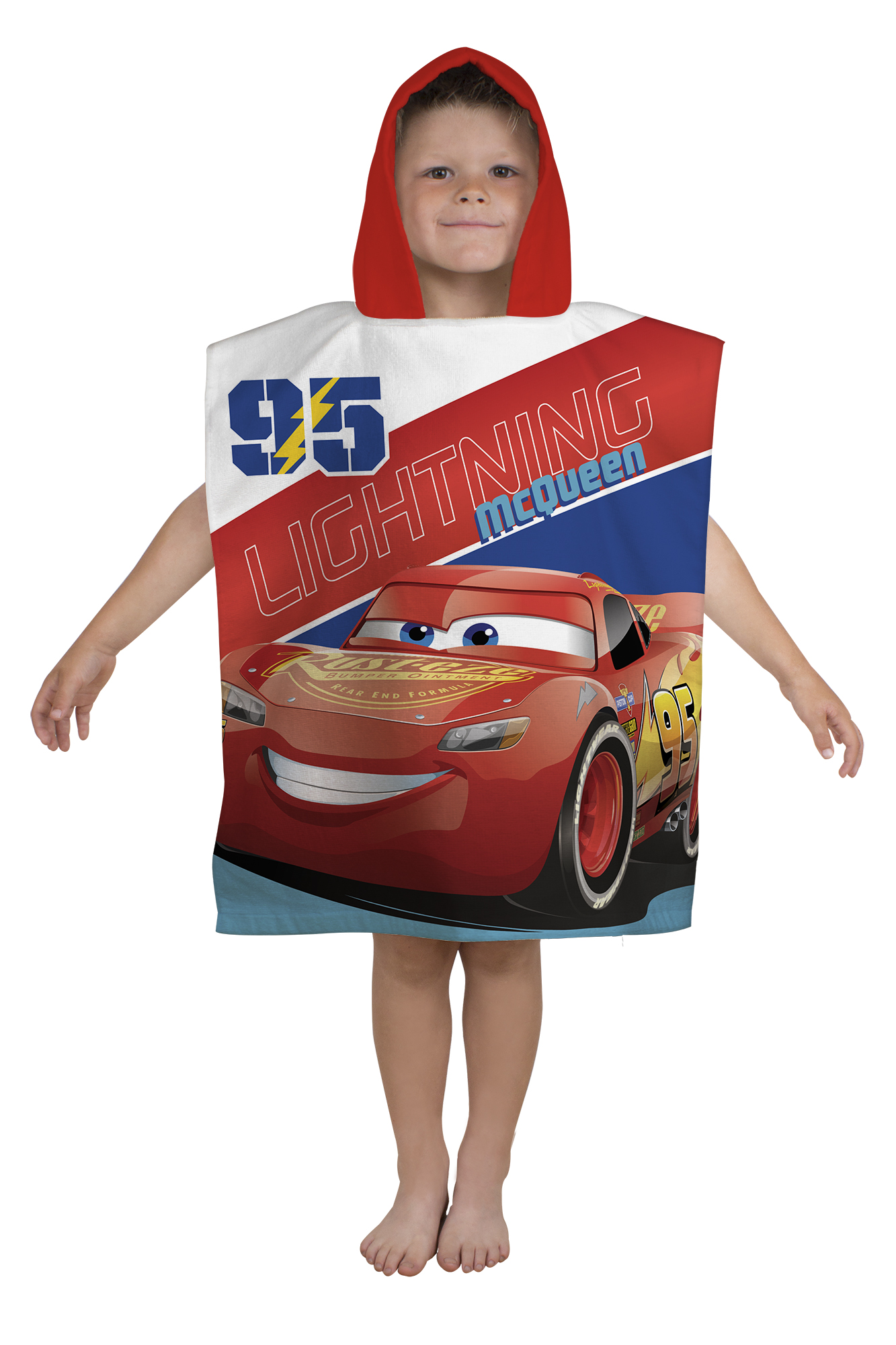 Handtuch Poncho Kind Neu Disney Cars 3 39lightning 39 Superweich Kapuzen Poncho